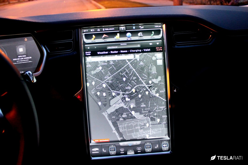 Quick Tesla App Charger: Tesla Model S Web Browser