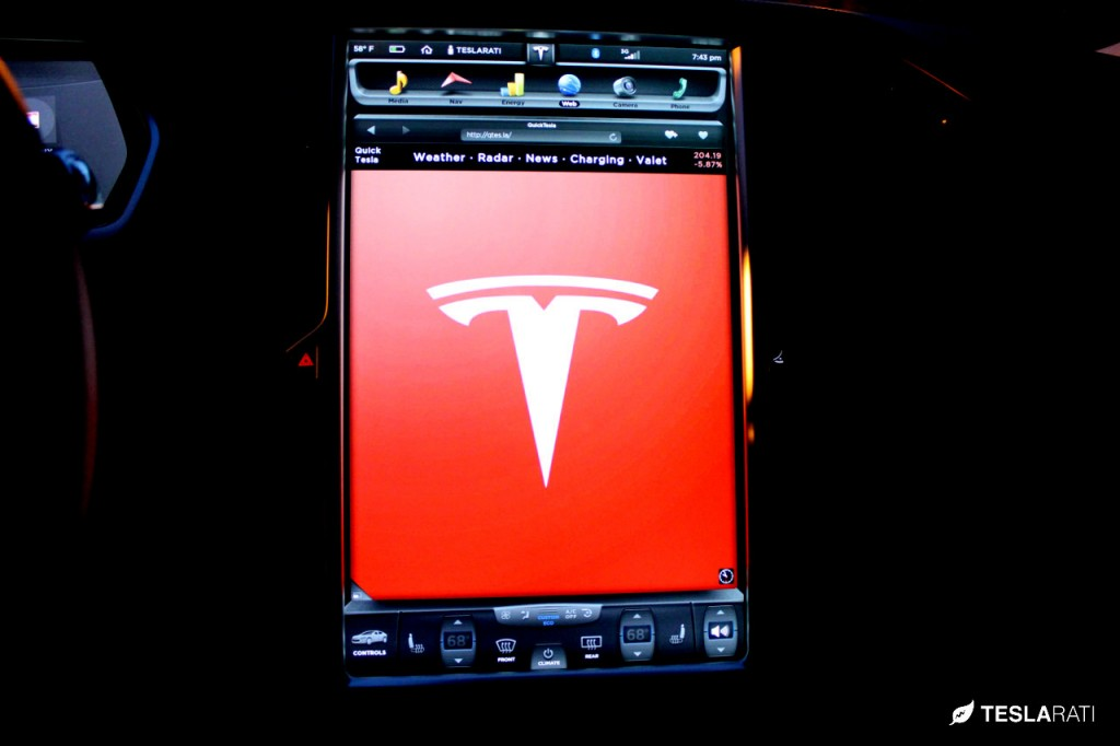 Quick Tesla App Logo: Tesla Model S Web Browser