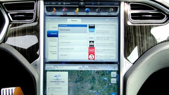 Tesla Sound System Touchscreen