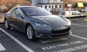 Tesla Model S Front License Plate Not Installed