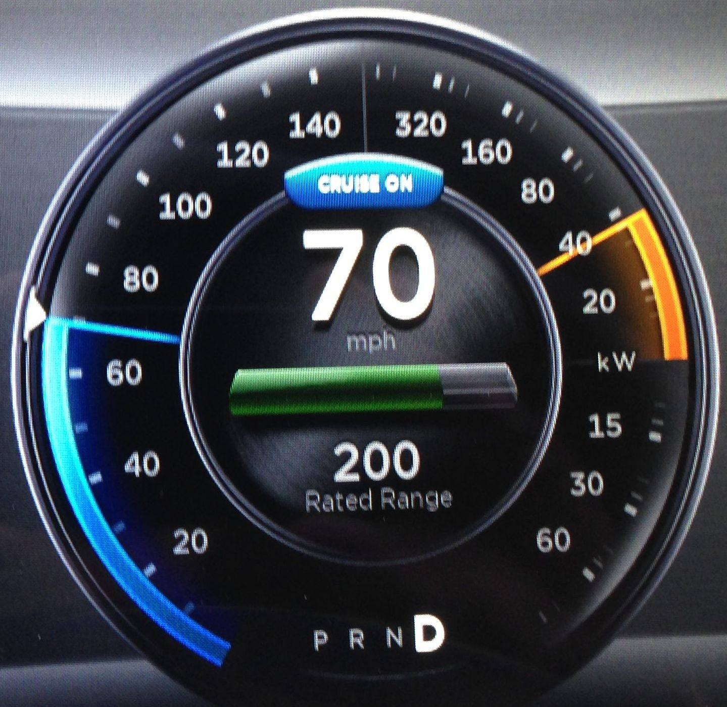 How to use the Tesla Model S cruise control system