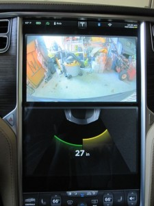 Tesla Model S Parking Sensors with Rear Camera