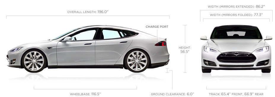 Tesla Model S Dimensions
