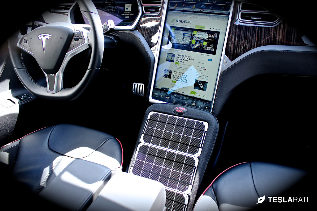 Integrating Portable Solar Panel Technology Into The Tesla