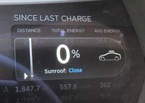 Tesla Panoramic Sunroof Scroll Wheel