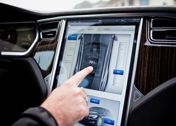 Tesla Panoramic Sunroof Controls