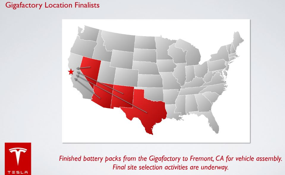 Tesla gigafactory map
