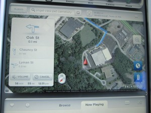 Tesla Model S Navigation Satellite