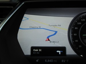 Tesla Model S Navigation
