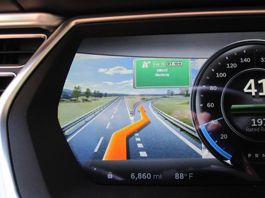 Tesla Model S Navigation Exit