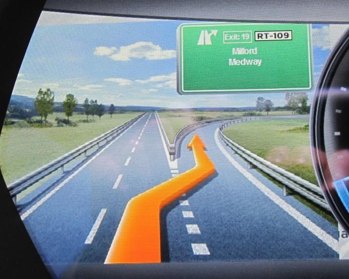 Nav exit display