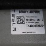 Tesla battery pack version label