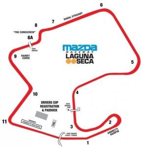 Laguna Seca Track Map