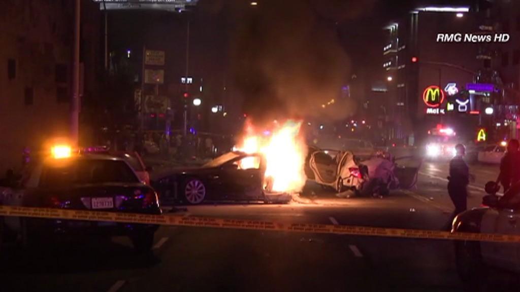 Stolen Tesla Model S catches fire
