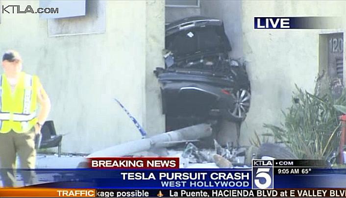 Stolen Tesla Model S sliced in half