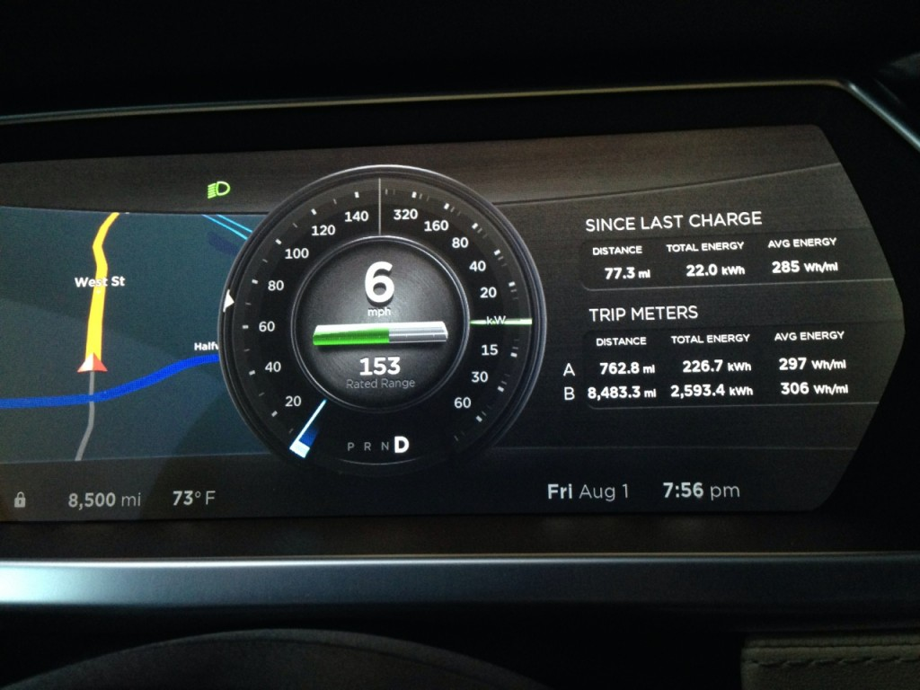 Tesla Model S dash display