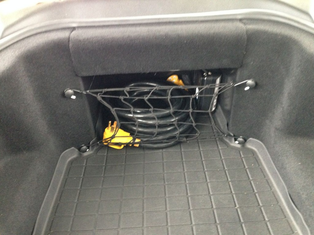Tesla Frunk Cargo Net Installed