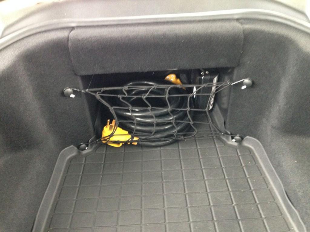 Tesla Frunk Cargo Net Installed