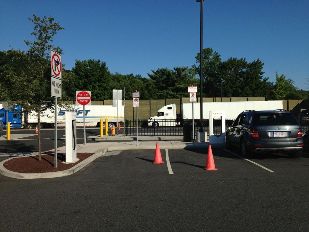 Tesla road trip - Supercharger cones