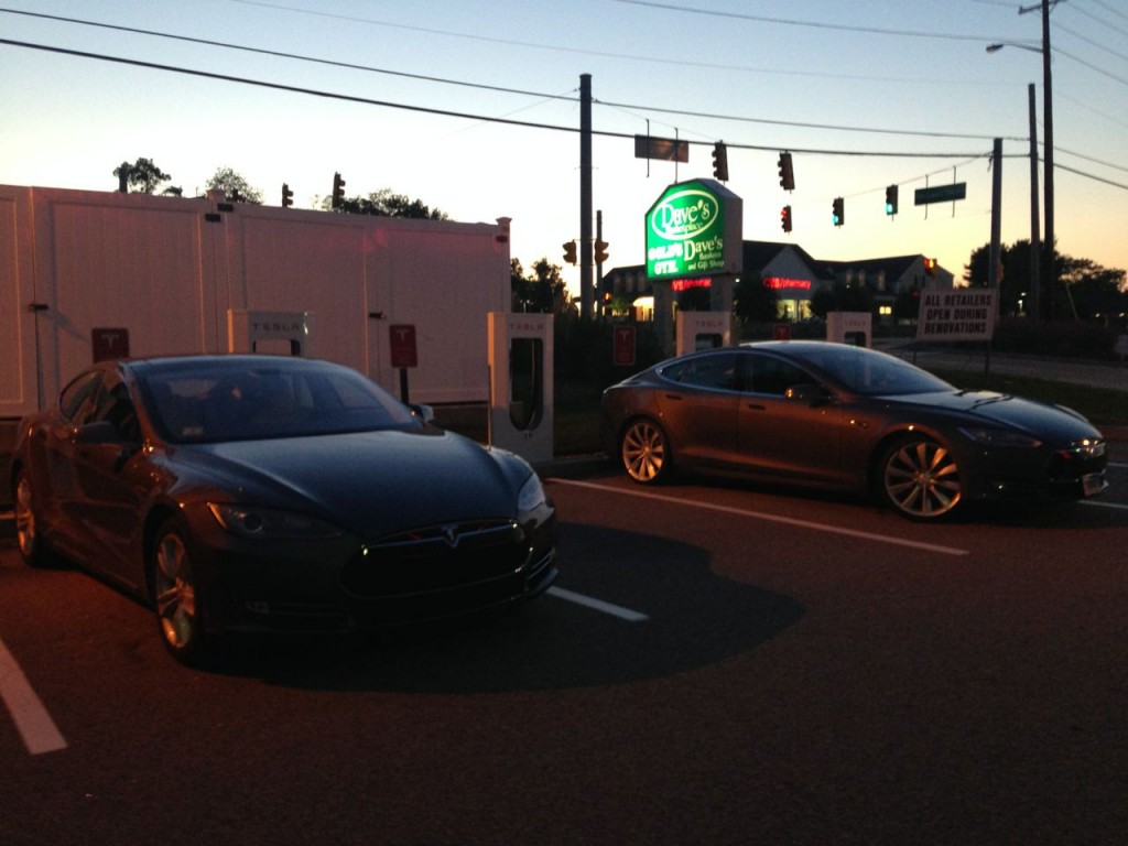 Tesla road trip - Supercharger East Greenwich, CT