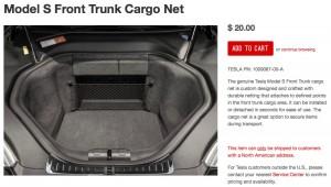 Tesla Frunk Cargo Net