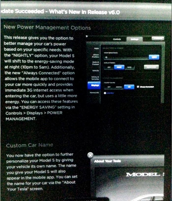Tesla-Firmware-6-0-Update