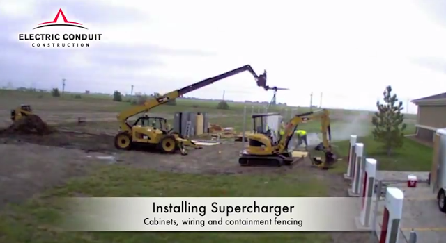 Tesla-Supercharger-construction