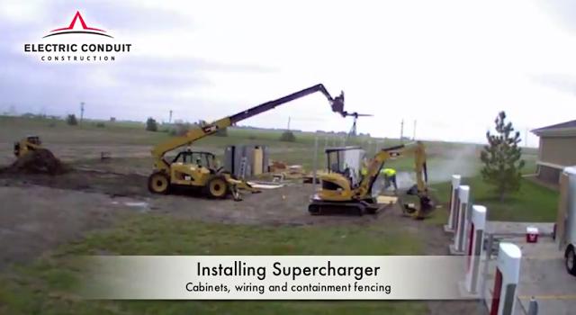 Tesla-Supercharger-construction
