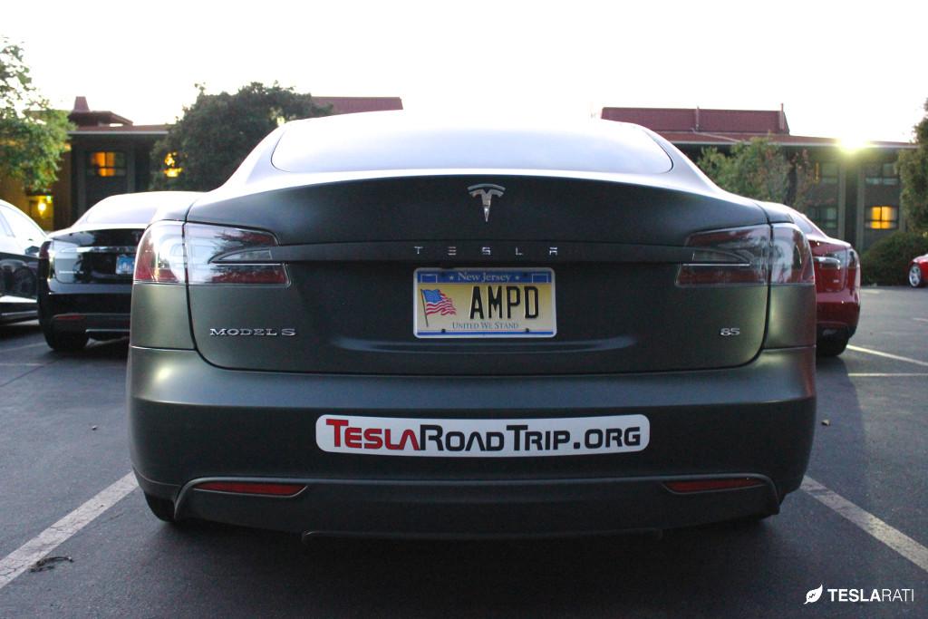 "Tesla Vanity Plate ""AMPD"""