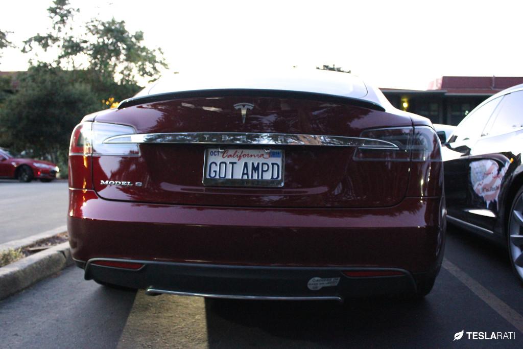 """Tesla Vanity Plate """"GOT AMPD"""""""
