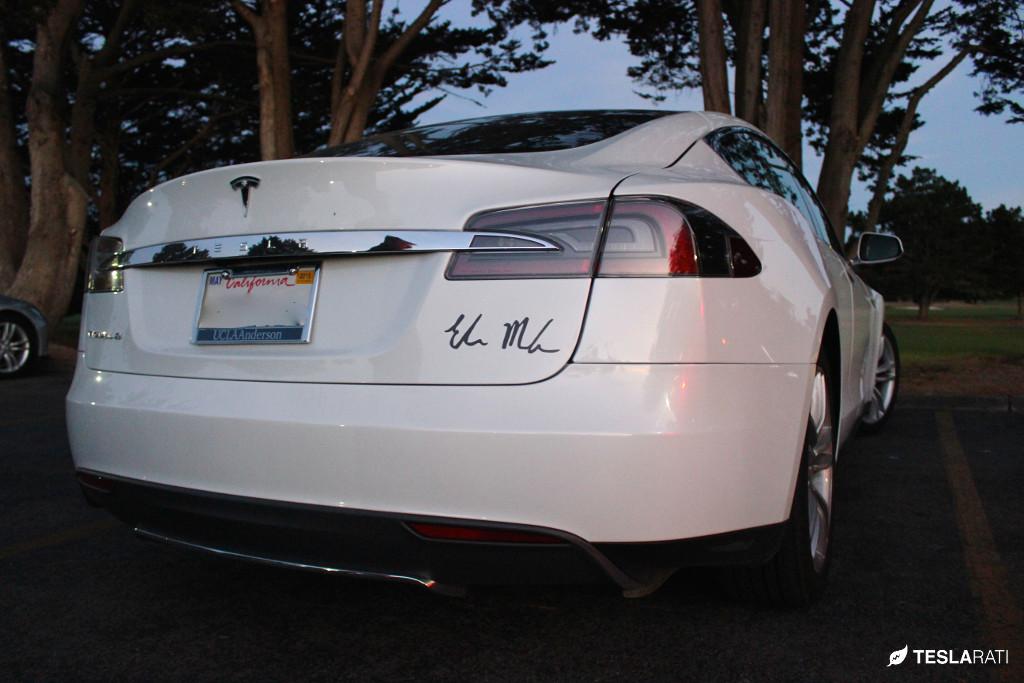 Tesla Vanity Plate (Elon Musk Signed)
