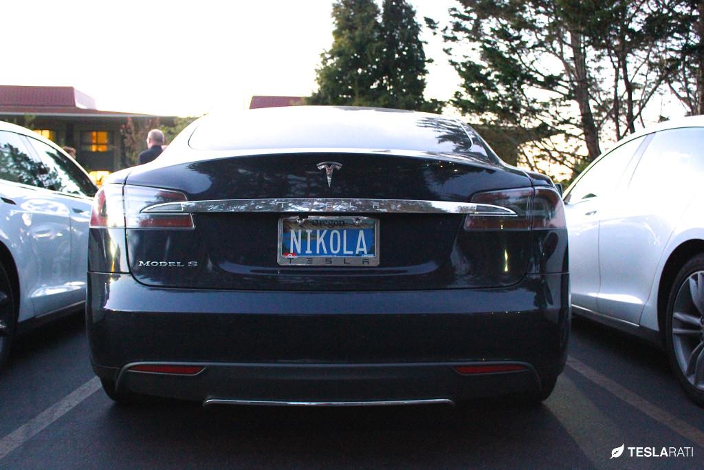 "Tesla Vanity Plate ""NIKOLA"""