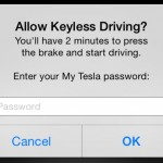 Tesla Keyless Driving (Firmware 6.0): password prompt
