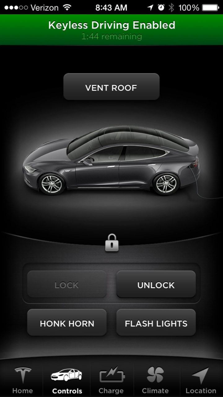 Keyless driving enabled