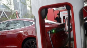 Tesla Supercharger in China