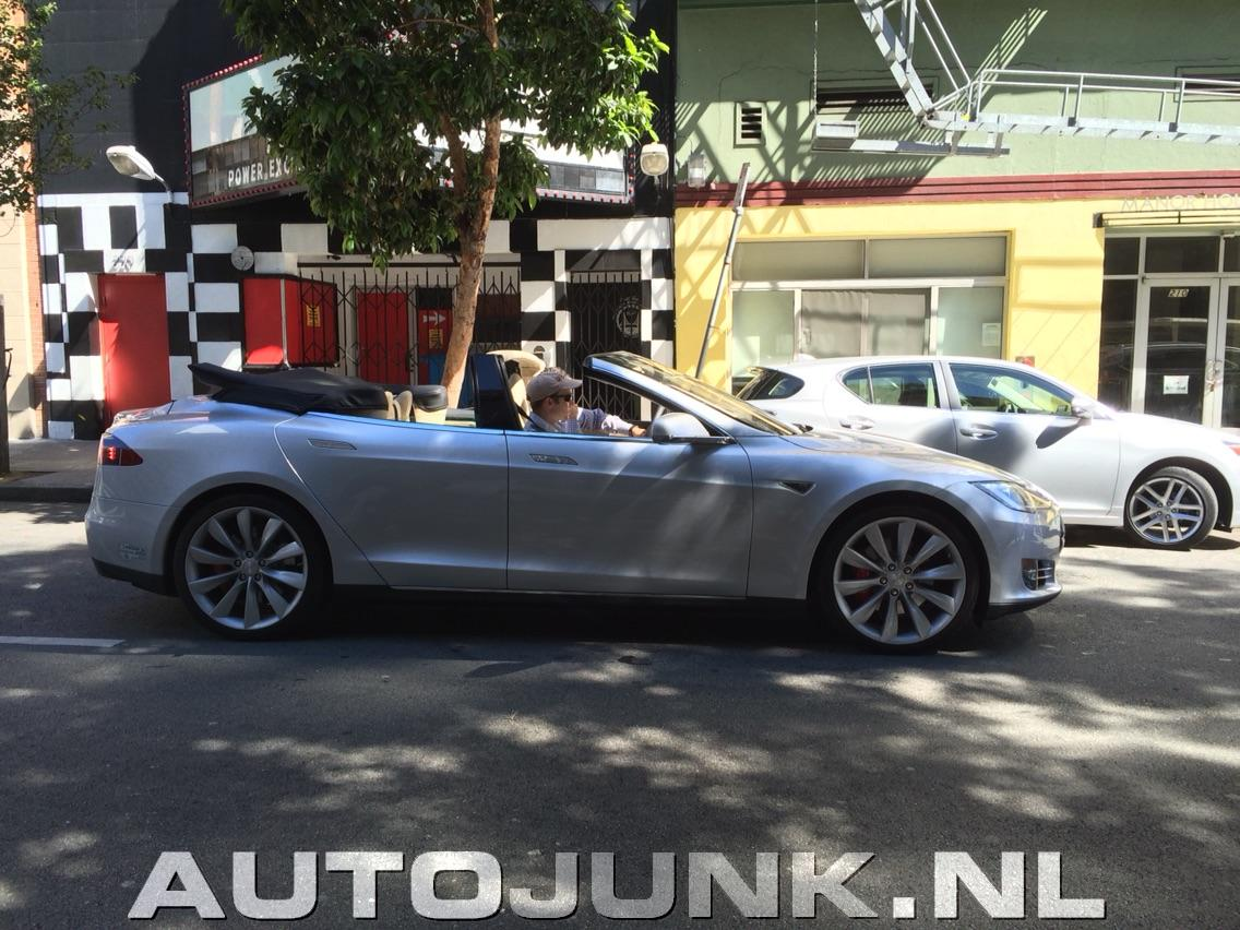 First Tesla Model S Convertible Hits The Streets Of San