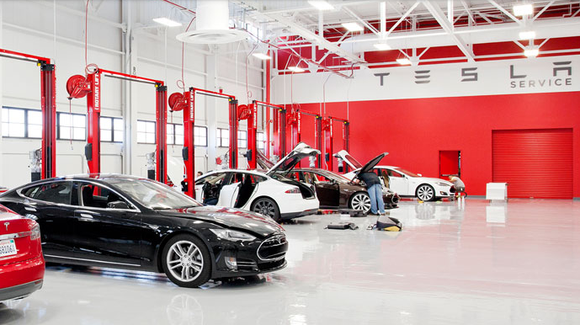 Tesla Motor service center. (Source: Tesla Motors)