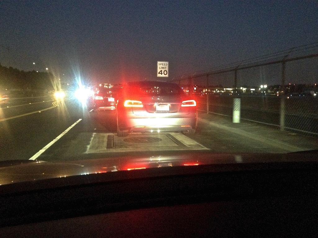 Tesla D Event Traffic Jam