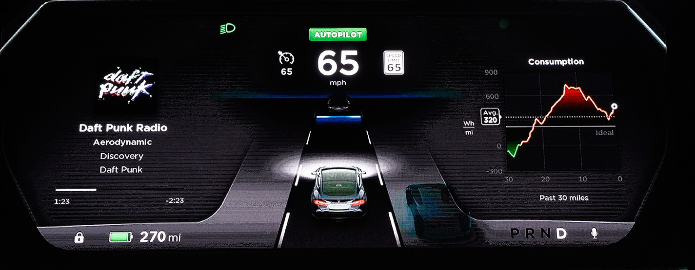 Telsa CEO Elon Musk Unveils Tesla Autopilot Option