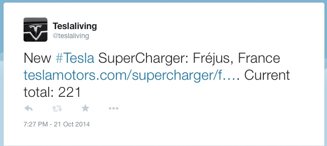 Supercharger Tweet