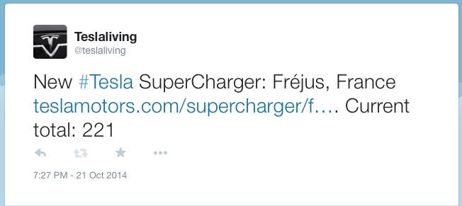 Supercharger Tweet