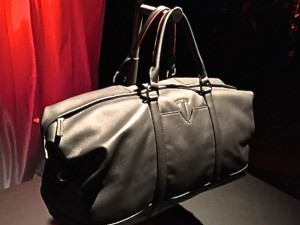 Tesla Branded Lifestyle Goods (Black Leather Handbag)