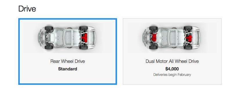 Tesla RWD vs Dual Motor AWD options