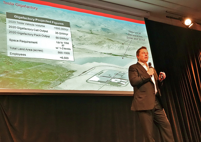 Elon Musk Gigafactory