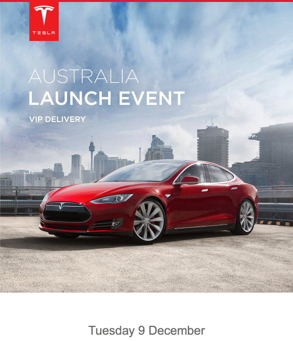 Tesla AU Launch