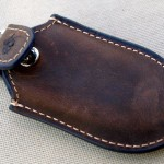 Rustic Leather Tesla Model S Key Fob Holder