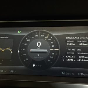 Tesla road trip out of battery range