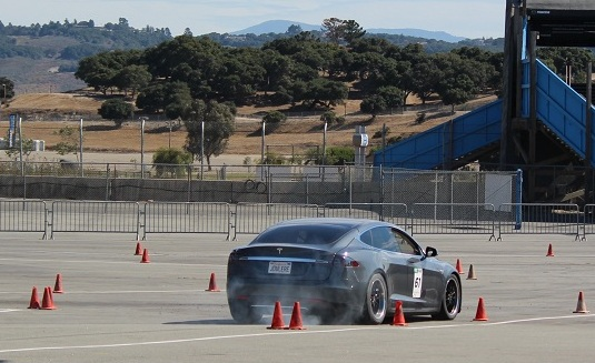 Tesla Model S Autocross