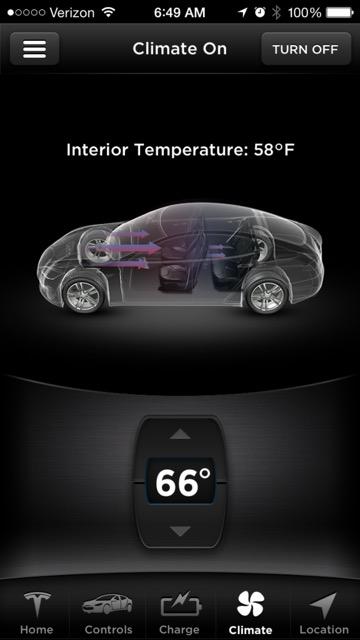 Preheating The Cabin Temperature Through Mobile Tesla Motors