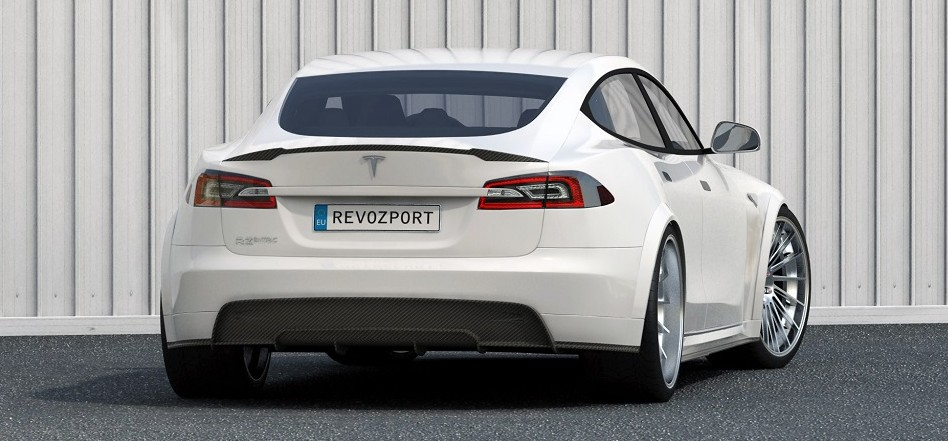 RevoZport Carbon Fiber Widebody Tesla Rear
